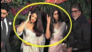Aishwarya Rai And Shweta Nanda Cold Fight At Anushka Sharma - Virat Kohli Mumbai Reception