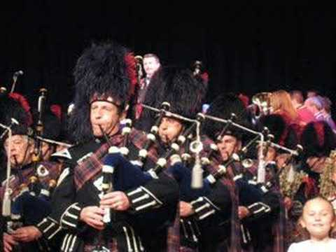 Highland Cathedral played by the combined bands of The Scottish Tattoo,