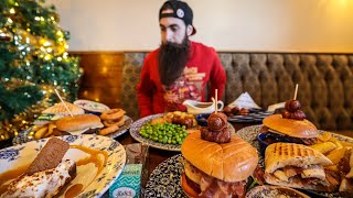 EATING THE ENTIRE WETHERSPOON'S XMAS MENU CHALLENGE | C.O.B. Ep.131