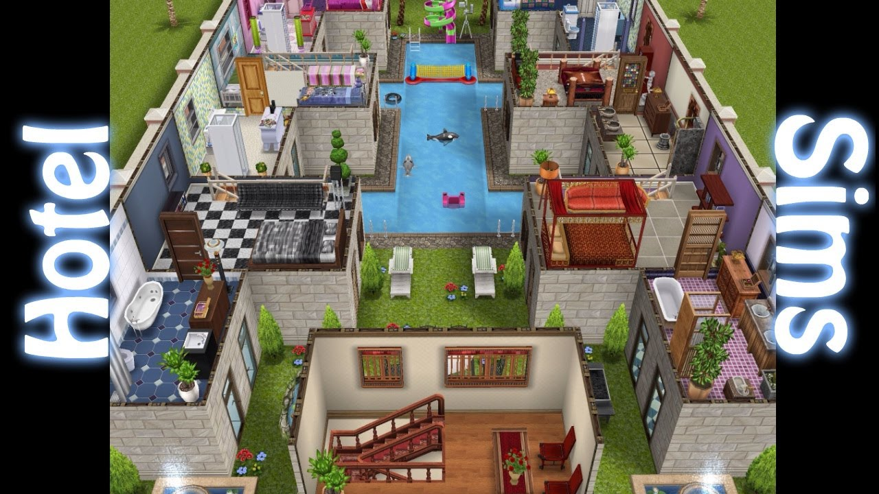 Sims gratuito arquitectura hotel ensimados youtube for Casa de diseno the sims freeplay