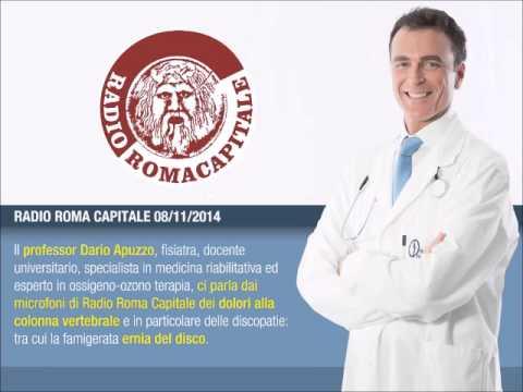 Il Prof Dario Apuzzo a RADIO ROMA CAPITALE parla di Ernia del disco: cura con ossigeno ozono terapia