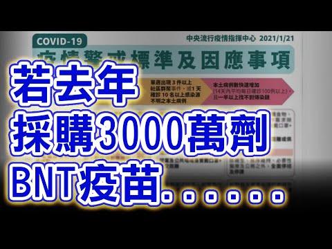 電廣-陳揮文時間 20210512-若去年採購3000萬劑BNT疫苗