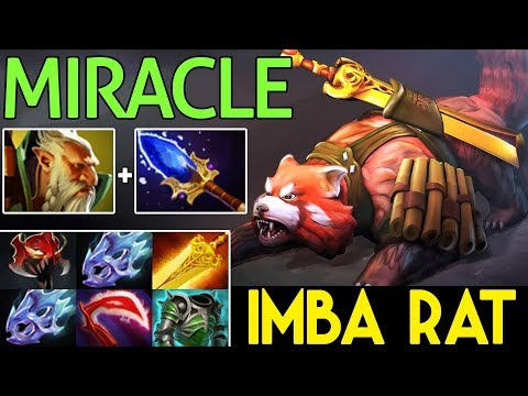 Miracle- DOTA 2 7.07 [Lone Druid] MAX ATTACK SPEED BUILD