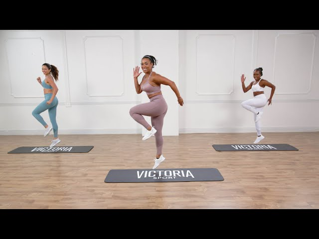 Play this video 25-Minute Victoria Sport High Impact Cardio amp Lower Body Workout
