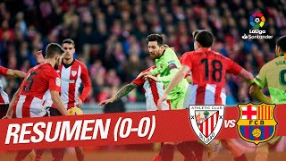 Resumen de Athletic Club vs FC Barcelona (0-0)