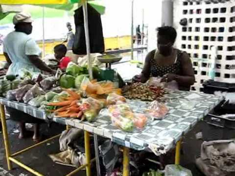 Scenes from the Farmers Market, in Roseau, Dominica