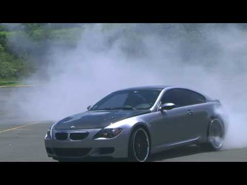 BMW M6 DRIFT BURNOUT Video