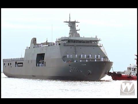 Philippine Navy's first Strategic Sea-lift Vessel (SSV) BRP Tarlac arrives in Manila