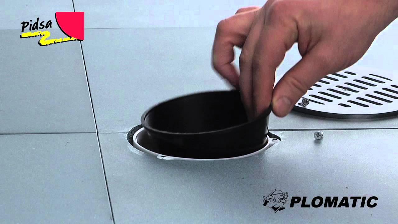 C mo instalar el cono para coladera de bote 10cm youtube for Como eliminar cucarachas del desague