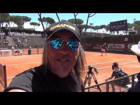 ROMA ITALIAN OPEN 2014,  SUPERMAN  NADAL TRAINING