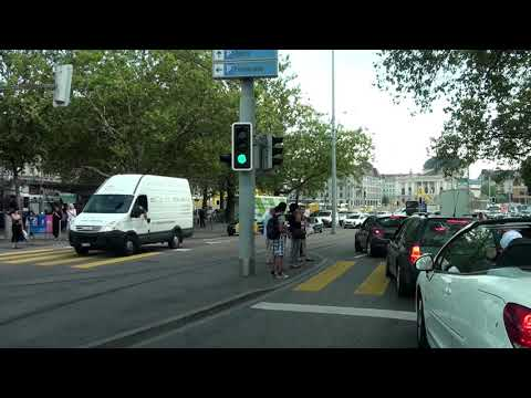 Driving trough Zürich, Switzerland/ Slow speed/ 08.2013/ FullHD