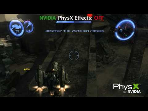Dark Void PC Game Comparison Video Featuring NVIDIA PhysX Technology