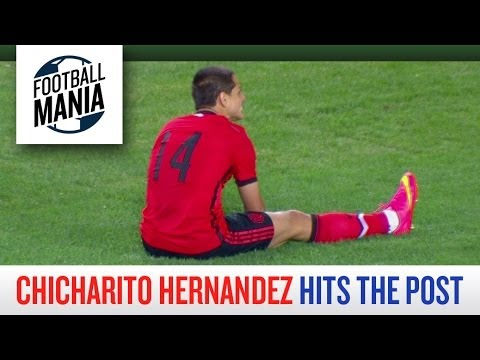 Chicharito Hernandez Hits the Post Vs. Bosnia - 2014 FIFA Friendly