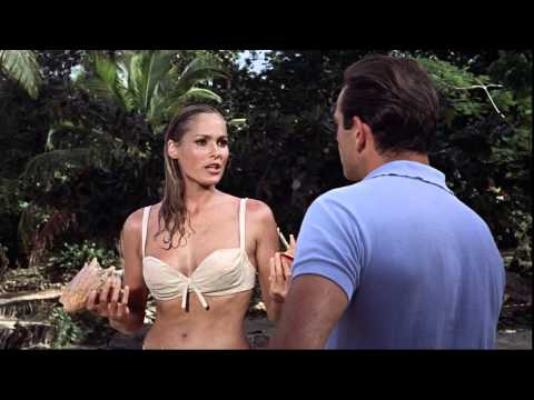Ursula Andress Wearing A Bikini During Dr No