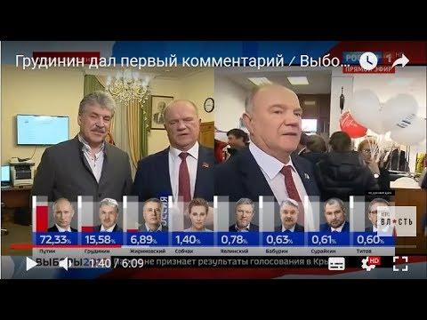 Грудинин дал первый комментарий ⁄ Выборы 2018