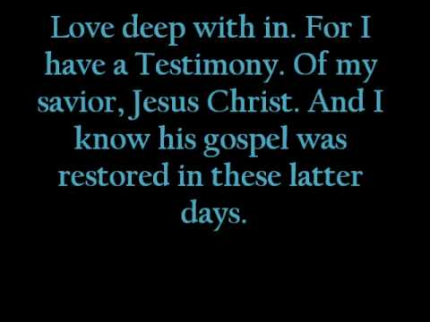 i have a testimony lyrics
