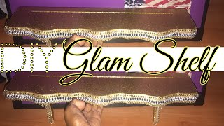 DIY GLAM BOOK SHELF|| HOME DECOR