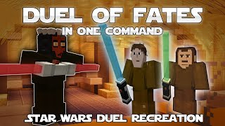 Minecraft One Command - RECREATE DUELS FROM STAR WARS | Duel of Fates In One Command