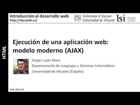 Ejecución de una aplicación web: modelo moderno (AJAX)