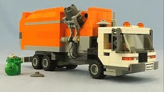 Custom LEGO Side Loading Garbage Truck! Working Compactor!