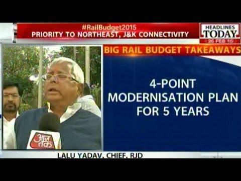 Felt Disappointed with the Railway Budget: Lalu Prasad Yadav