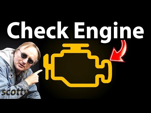 Fixing An Old Car With The Check Engine Light On