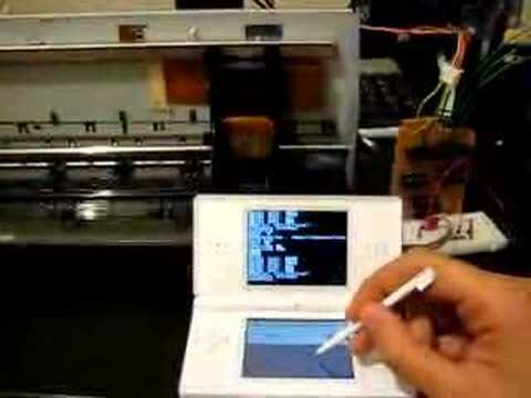 NintendoDS controlling the carriage of a printer