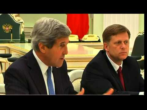 Secretary Kerry Meets With Russian President Putin