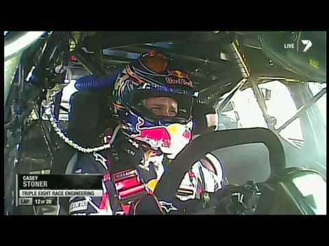 Casey Stoner first V8 race crash