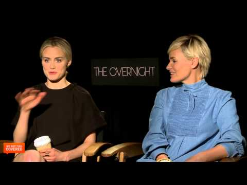Exclusive Interview: Taylor Schilling and Judith Godrèche Talk The Overnight [HD]