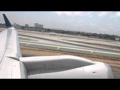 LAX HD United Airlines 757-300 Take Off Los Angeles International Airport Boeing