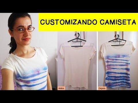 Como customizar camiseta de um jeito MUITO fácil - DIY T-shirt