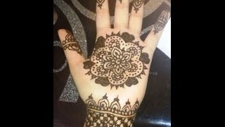 Easy simple mehendi design for kids - simple floral henna for beginners step by step tutorial