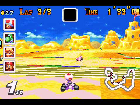 Mario Kart - Super Circuit - Mario Kart - Super Circuit (GBA) - Vizzed.com Play -  Flower Cup 50cc - User video