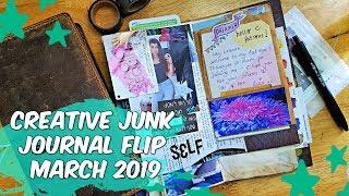 Junk Journal TN Pages * Journal Flip Through March 2019