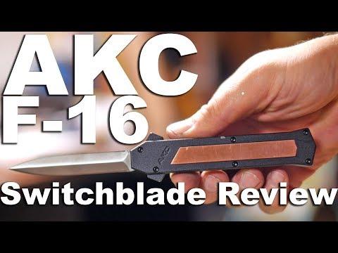PEW PEW! AKC F-16 OTF Automatic Knife Review.  A fun cheapish switchblade.
