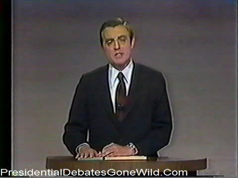 1976 Vice Presidential Debates Walter Mondale and Republican Bob Dole face off about Nixon and Vietnam
