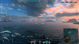 World of Warships Beta Key update - Cleveland and Aoba gameplay