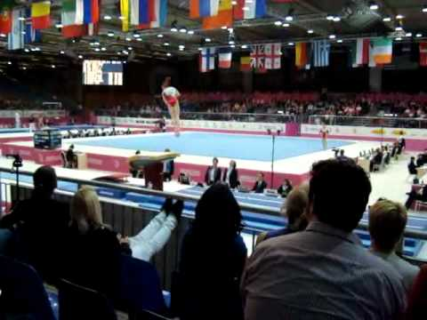 Anne KUHM FRA, Vault Senior Qualification, European Gymnastics Championships 2012 (1)