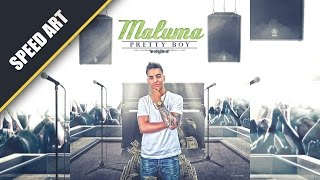 Maluma - Speed Art (by: Kyan Artz) #PhotoshopCC