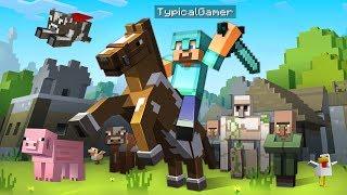 We built the BEST FARM with an ANIMAL BARN!! (Minecraft)