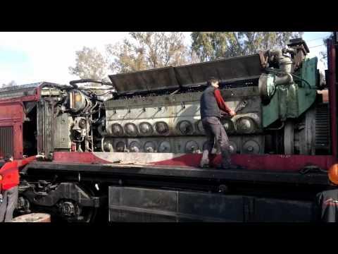 Repair and start up Diesel engine Locomotive EMD GT-26 #9405.
