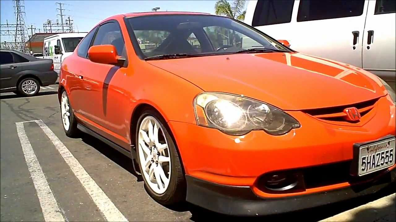 "Red Acura RSX (DC5) lowered on D2 coilovers on authentic 17"" Integra ..."