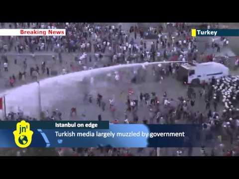 Turkish Protests: riot police crackdown as thousands of protesters flood into central Istanbul