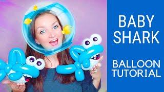 BABY SHARK Balloon Animal Tutorial!
