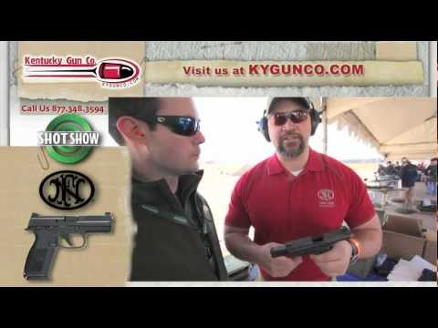 SHOT Show 2012 - FNH FNS-9 Pistol Range & Review