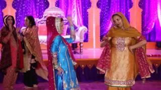 Sangeet Puneet & Preet Best Gidha Performance 2016