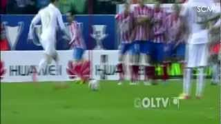 Cristiano Ronaldo Dead Ball (knuckle) Free Kick Goal vs Atletico Madrid