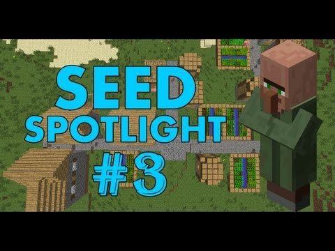 Minecraft 1.7.2 Seed Spotlight: DOUBLE VILLAGE, PYRAMID, DIAMONDS! #3