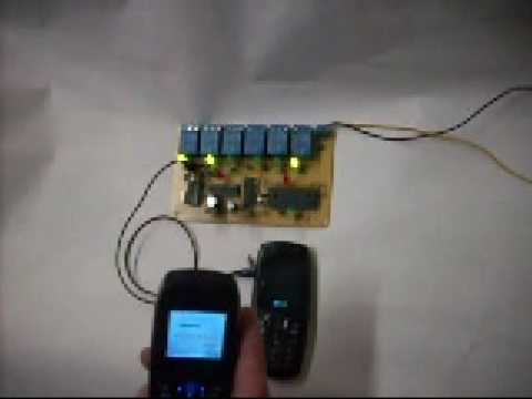 Controla todo desde tu telefono celular gsm control por dtmf